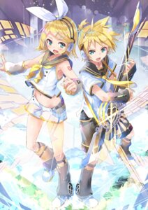 Rating: Safe Score: 38 Tags: daidou guitar kagamine_len kagamine_rin tattoo vocaloid User: fairyren