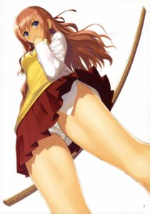 Rating: Questionable Score: 62 Tags: bamboo_blade miyazaki_miyako pantsu seifuku sword tony_taka User: DLS84