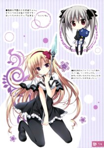 Rating: Safe Score: 39 Tags: chibi hakoniwa_no_gakuen heels juuoumujin_no_fafnir komiya_rio korie_riko lisa_highwalker mujin_shoujo pantyhose seifuku thighhighs weapon User: Twinsenzw