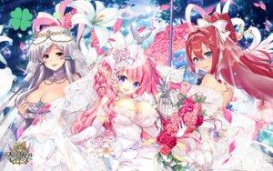 Rating: Questionable Score: 51 Tags: akatsuki_rabbit brave_girl_ravens breast_hold cleavage dress pointy_ears satsuki_misuzu see_through skirt_lift tsukimiya_sei wallpaper wedding_dress User: zyll