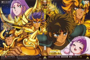 Rating: Safe Score: 3 Tags: araki_shingo aries_muu armor cancer_deathmask disc_cover gemini_saga himeno_michi kido_saori leo_aioria sagitarius_aioros saint_seiya screening taurus_aldebaran User: kyoushiro