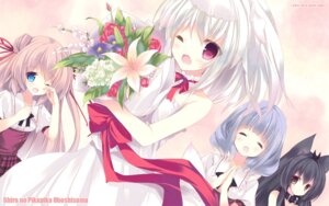 Rating: Safe Score: 44 Tags: animal_ears aurora azuma_airi dress inumimi nekomimi p19 seifuku shiro_(shiropika) shiro_no_pikapika_ohoshi-sama sweet_light tachibana_himeko tail wallpaper wedding_dress User: blooregardo