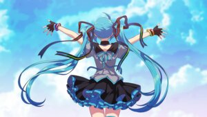 Rating: Safe Score: 16 Tags: hatsune_miku matsuda_toki skirt_lift vocaloid wallpaper User: charunetra
