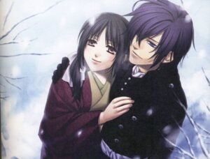 Rating: Safe Score: 11 Tags: binding_discoloration hakuouki japanese_clothes kazuki_yone saitou_hajime saitou_hajime_(hakuouki) yukimura_chizuru User: anime_love_angel