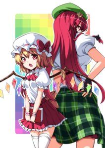 Rating: Safe Score: 20 Tags: flandre_scarlet hong_meiling koissa thighhighs touhou wings User: Mr_GT