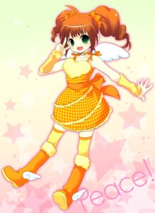 Rating: Safe Score: 7 Tags: dress ech takatsuki_yayoi the_idolm@ster thighhighs wings User: Nekotsúh
