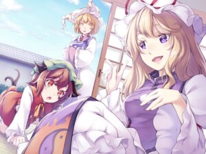 Rating: Safe Score: 17 Tags: animal_ears chen midorino_eni tail touhou wallpaper yakumo_ran yakumo_yukari User: Mr_GT