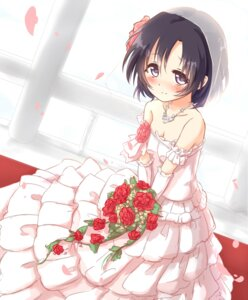 Rating: Safe Score: 28 Tags: cleavage dress kisa shiragiku_hotaru the_idolm@ster the_idolm@ster_cinderella_girls wedding_dress User: Mr_GT
