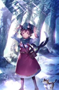Rating: Safe Score: 27 Tags: animal_ears chen neko nekomimi sunakumo tail touhou User: RyuZU