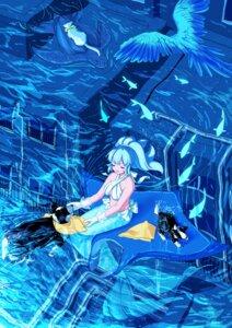 Rating: Safe Score: 8 Tags: bikini_top kisumi_rei mermaid monster_girl neko swimsuits tail wet User: charunetra