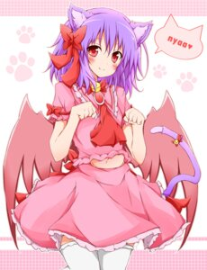 Rating: Safe Score: 24 Tags: animal_ears karamone-ze nekomimi remilia_scarlet thighhighs touhou User: Radioactive
