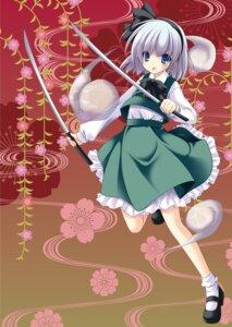Rating: Safe Score: 14 Tags: konpaku_youmu ogawa_shizuka sword touhou User: KerrigN