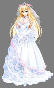 Rating: Safe Score: 72 Tags: amasaka_takashi cleavage clip_craft dress transparent_png unionism_quartet wedding_dress yurifina_sol_eleanord User: moonshadow129