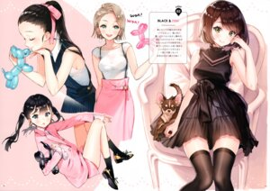 Rating: Safe Score: 43 Tags: ancotaku dress heels sentiment_color thighhighs User: kiyoe