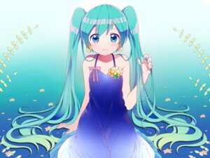 Rating: Safe Score: 36 Tags: cleavage dress hatsune_miku kuroton409610 vocaloid User: charunetra