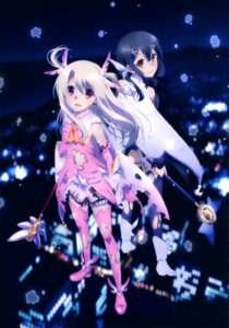 Rating: Safe Score: 45 Tags: fate/kaleid_liner_prisma_illya fate/stay_night garter heels illyasviel_von_einzbern miyu_edelfelt thighhighs torn_clothes weapon User: drop