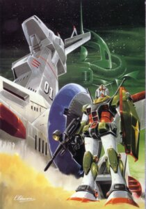 Rating: Safe Score: 0 Tags: gundam mecha mobile_suit_gundam okawara_kunio rx-78-2_gundam white_base User: Radioactive