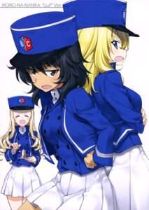 Rating: Safe Score: 10 Tags: andou_rena girls_und_panzer kurashima_tomoyasu marie_(girls_und_panzer) oshida_ruka uniform User: drop