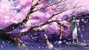 Rating: Safe Score: 48 Tags: justminor landscape sword yukata User: Nekotsúh