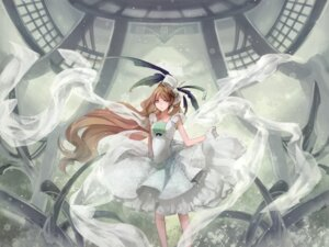 Rating: Safe Score: 11 Tags: aoshiki dress wallpaper User: Erikan
