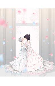 Rating: Safe Score: 22 Tags: 80mph dress itomi_sayaka toji_no_miko wedding_dress yanase_mai_(toji_no_miko) yuri User: Spidey