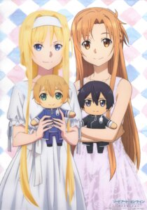 Rating: Safe Score: 43 Tags: alice_schuberg asuna_(sword_art_online) dress eugeo kirito sword_art_online sword_art_online_alicization tagme User: YamatoBomber