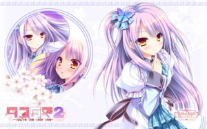 Rating: Safe Score: 44 Tags: lump_of_sugar moekibara_fumitake seifuku tayutama tayutama_2 wallpaper User: akagiss
