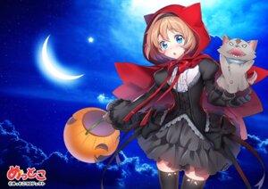 Rating: Safe Score: 13 Tags: dress halloween hanasaki_mahiru mettoko mettoko_project thighhighs User: saemonnokami