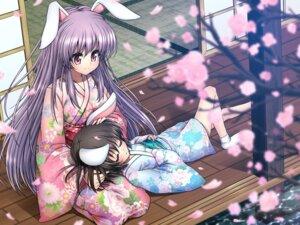 Rating: Safe Score: 32 Tags: animal_ears bunny_ears inaba_tewi jpeg_artifacts kimakemu reisen_udongein_inaba touhou yukata User: fairyren