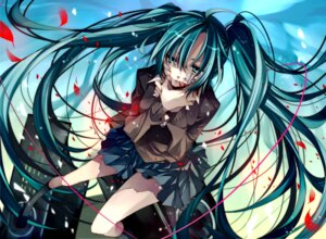 Rating: Safe Score: 47 Tags: blood hatsune_miku rolling_girl_(vocaloid) seifuku tsukioka_tsukiho vocaloid User: fireattack
