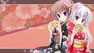 Rating: Safe Score: 57 Tags: hatsuyuki_sakura hontani_kanae kimono kozakai_aya saga_planets tamaki_sakura toranosuke wallpaper User: van