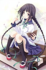 Rating: Safe Score: 52 Tags: amano_tooko bungaku_shoujo miyama-zero seifuku User: petopeto