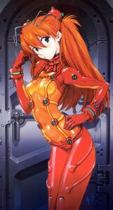 Rating: Questionable Score: 74 Tags: bodysuit neon_genesis_evangelion sadamoto_yoshiyuki souryuu_asuka_langley User: Timbo