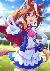 Rating: Safe Score: 21 Tags: animal_ears skirt_lift tagme tail tokai_teio_(umamusume) uma_musume_pretty_derby uniform User: Mr_GT