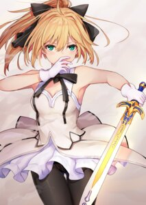 Rating: Safe Score: 45 Tags: black_cola cleavage fate/grand_order pantsu pantyhose saber saber_lily sword User: Mr_GT