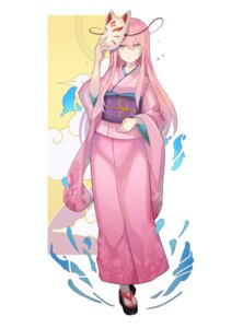 Rating: Safe Score: 25 Tags: hata_no_kokoro kimono rin_falcon touhou User: Dreista