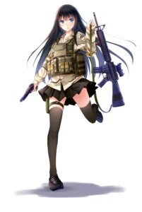 Rating: Safe Score: 48 Tags: allenes gun thighhighs uniform User: zero|fade