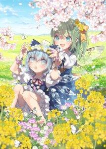 Rating: Safe Score: 16 Tags: bloomers cirno daiyousei dress skirt_lift touhou toutenkou wings User: Mr_GT