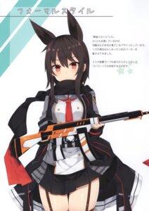 Rating: Questionable Score: 39 Tags: animal_ears gun nibiiro_shizuka stockings thighhighs uniform User: Radioactive