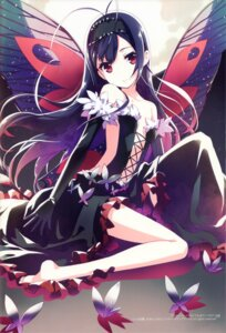 Rating: Safe Score: 100 Tags: accel_world dress feet h2so4 island_of_horizon kuroyukihime no_bra wings User: yong