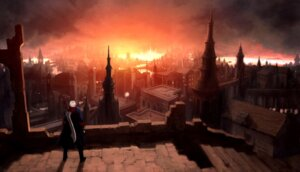 Rating: Safe Score: 8 Tags: devil_may_cry landscape male nero User: charunetra