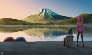 Rating: Safe Score: 28 Tags: kagamihara_nadeshiko lamiho landscape pantyhose shima_rin yurucamp User: Spidey