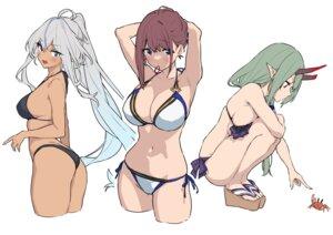 Rating: Questionable Score: 36 Tags: ass baffu bikini hitoyo_(baffu) horns pointy_ears swimsuits thong User: BattlequeenYume