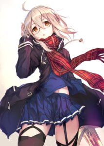Rating: Safe Score: 98 Tags: fal_maro fate/grand_order heroine_x_alter megane stockings sword thighhighs User: kiyoe