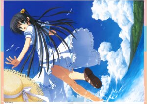 Rating: Safe Score: 30 Tags: dress kobuichi kousaka_chihaya muririn natsuzora_kanata summer_dress yuzu-soft User: milumon