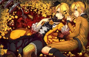 Rating: Safe Score: 33 Tags: dearrose dress kagamine_len kagamine_rin vocaloid wet User: Mr_GT
