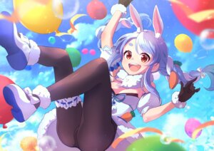 Rating: Safe Score: 11 Tags: animal_ears bunny_ears bunny_girl eriko garter hololive no_bra pantyhose usada_pekora User: Mr_GT