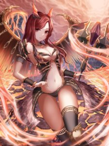 Rating: Safe Score: 1 Tags: armor cleavage horns nani_(goodrich) no_bra thighhighs weapon wings User: Mr_GT