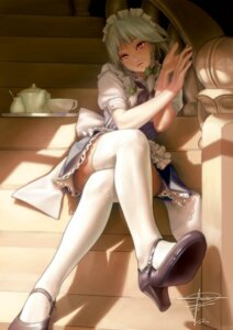Rating: Safe Score: 78 Tags: geister heels izayoi_sakuya maid thighhighs touhou User: Radioactive