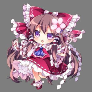Rating: Safe Score: 35 Tags: chibi hakurei_reimu mikazuki_sara touhou transparent_png User: Minacle